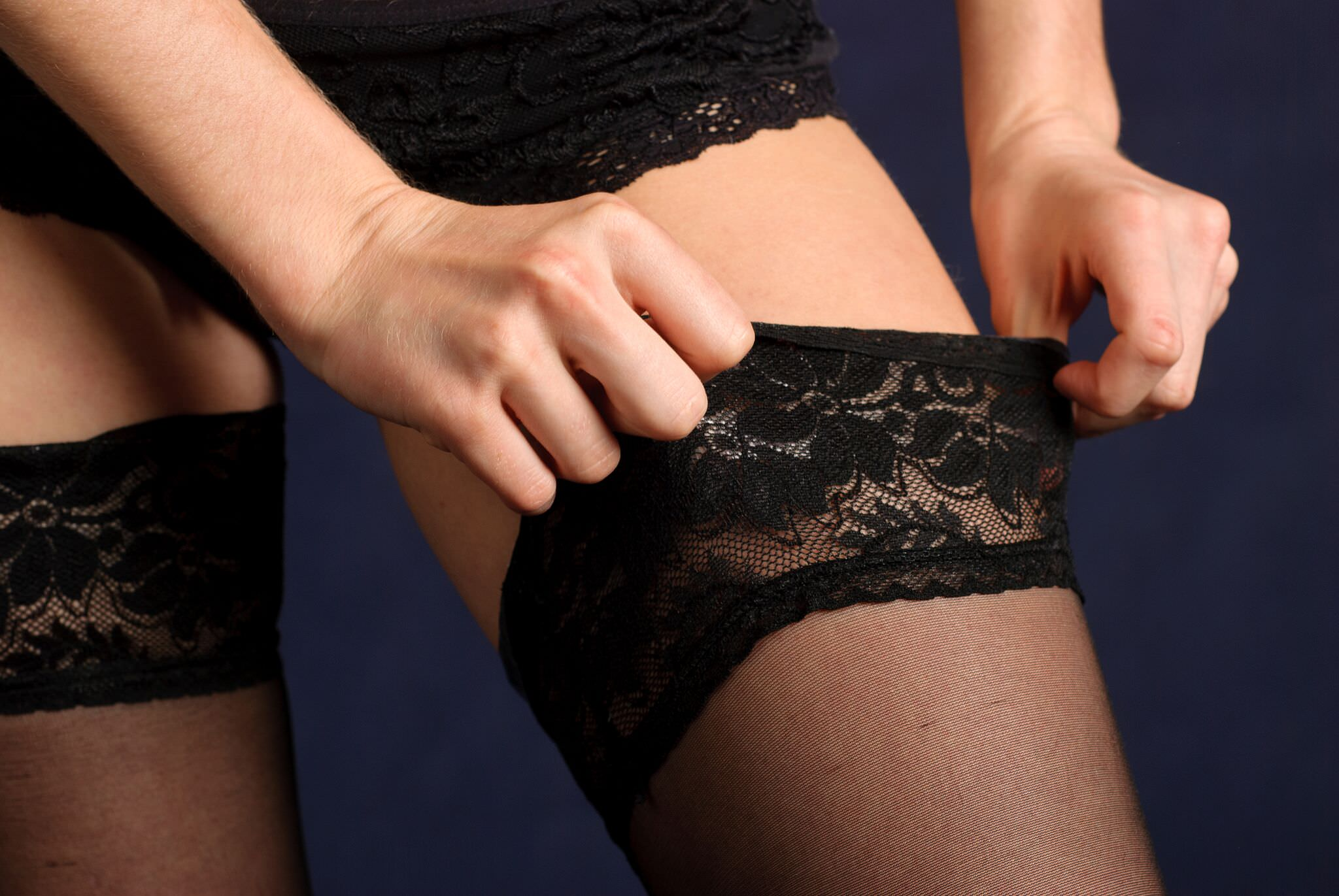 The Tactile Pleasure of Nylons Goes Both Ways